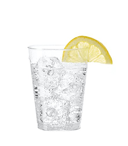 Event Plastic Cups (Embellish Crystal Clear Hard Plastic 7oz Party Tumblers/Cups 200 Tumblers)