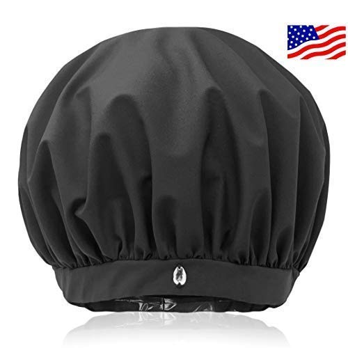 SUPERPOWER CAP | Large for Long + Curly Hair | Only Shower Cap For Women That Removes Humidity To Keep Dry Hair Styled | Waterproof Breathable Polartec Fabric | Adjustable | No Slip Grip | Made in USA