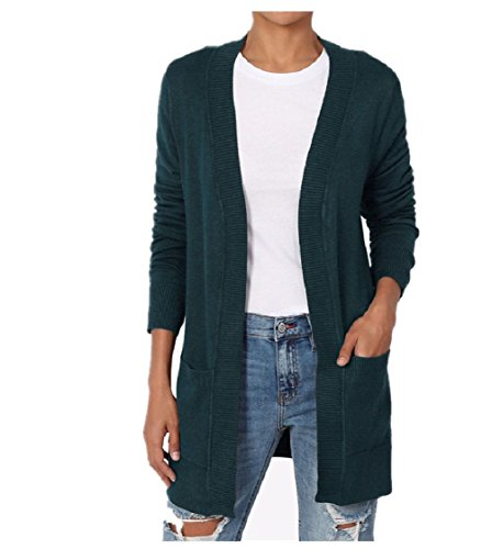 Dustin Clothes Women'S Boyfriend Relaxed Fit Open Front Pockets Knit Sweater Cardigan