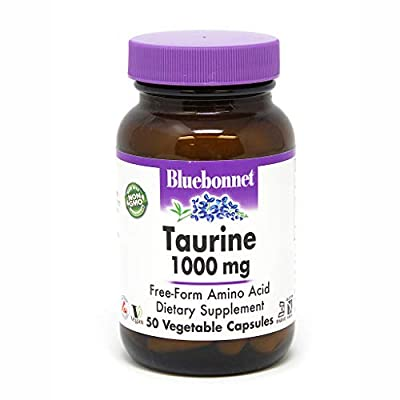 Bluebonnet Taurine 1000 mg Vitamin Capsules, 50 Count