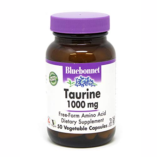 (Bluebonnet Taurine 1000 mg Vitamin Capsules, 50 Count)