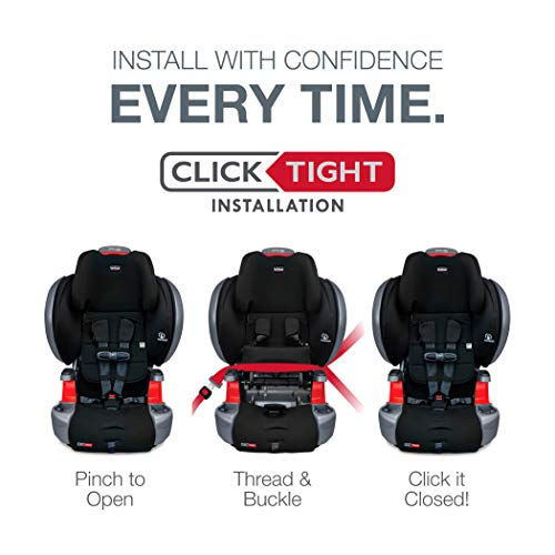 41c GibhwsL - Britax Grow With You ClickTight Plus Harness-2-Booster Car Seat | 3 Layer Impact Protection - 25 To 120 Pounds, Jet Safewash Fabric [New Version Of Pinnacle]