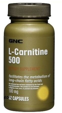 GNC L-carnitine 500mg 60 Caps