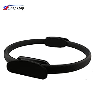 A SZCXTOP Pilates Ring Magic Yoga Circle Fitness Equipment Perfect for Pilates at Home Use Improving Balance & Posture, Full Body Workout Equipment
