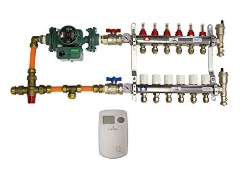 "SharkBite 24779 6 Loop Radiant Heating Installation Kit, 1/2"", Brass, 25 Piece"