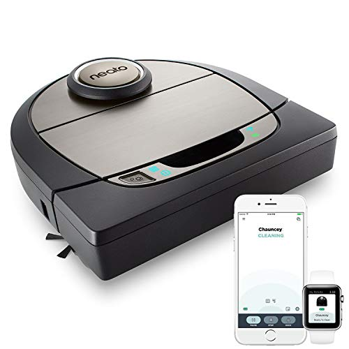 Neato Robotics D701 Connected - Compatible with Alexa - robot vacuum cleaner with charging station, Wi-Fi & App