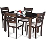 Royal Oak Berlin Four Seater Dining Table Set (Brown)