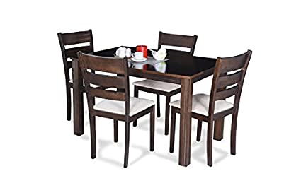 Royaloak Berlin Four Seater Dining Table Set (Brown)  Amazon.in ... 687dd6f91