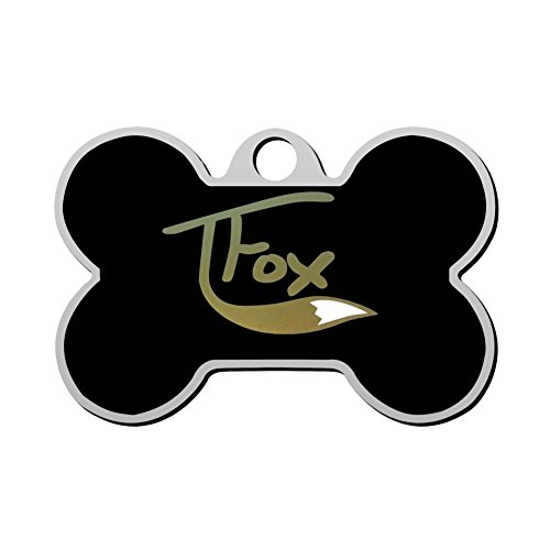 KSOE187 Personalized Printed Dog Tags Tanner_Fox Pet ID Tags for Cat and Dog