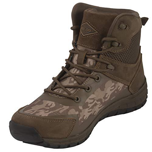 Steel Edge Men Tactical Combat Boots Shoes (13 M US, Brown Camo)