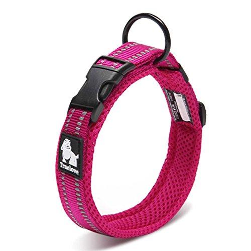 SGODA Dog Collars Mesh Nylon Padded 3M Reflective Basic Adjustable Pet Collar