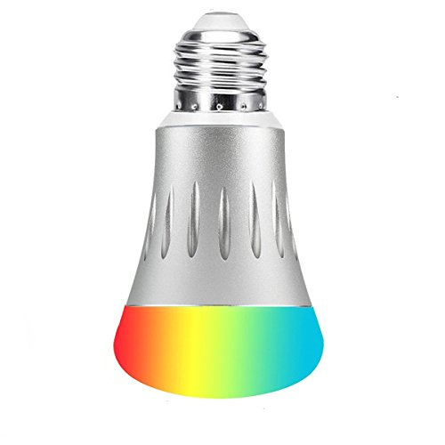 Cheap Wi-Fi Smart LED Light Bulb, BT A19 Multicolored LED Lamp, 60W Equivalent, Wireless Remote Control, No Hub Required, Compatible with Alexa and Google Home