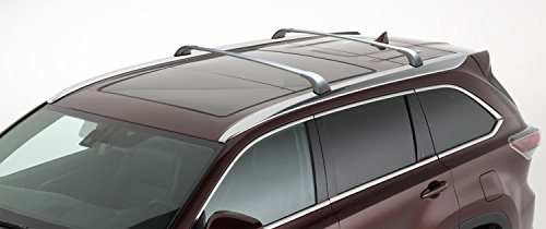 BRIGHTLINES 2014-2018 Toyota Highlander XLE Limited Silver Cross Bars Roof Racks