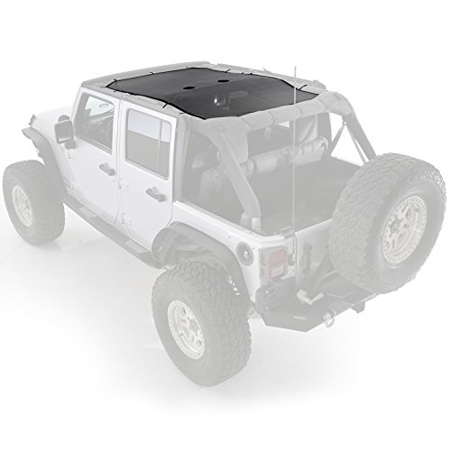 Smittybilt 95500 Cloak Extended Mesh Top (Long Brief) for 2007-2018 Jeep Wrangler JK - Brief Summer Header Mesh