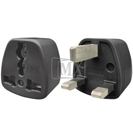 MAXCART GATTS MX 13 A Universal Conversion Plug 3 Pin for UK, Hong Kong and Singapore Surge Protectors