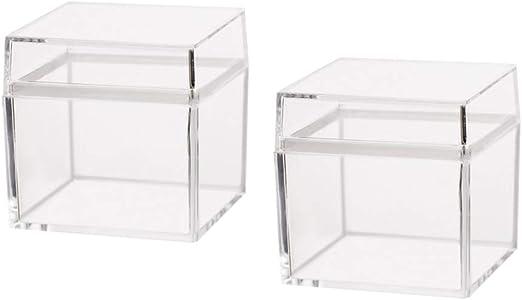 OUNONA - Caja de plástico Transparente con Tapa para Regalo ...
