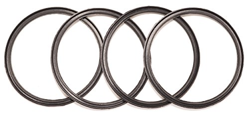 4 Pack New OEM Replacement Rubber Lid Seals for 10, 12, 16 and 20 ounce Insulated Stainless Steel Tumblers Such as Yeti RTIC Ozark Trail Mossy Oak Atlin Beast (10 or 20 ounce)
