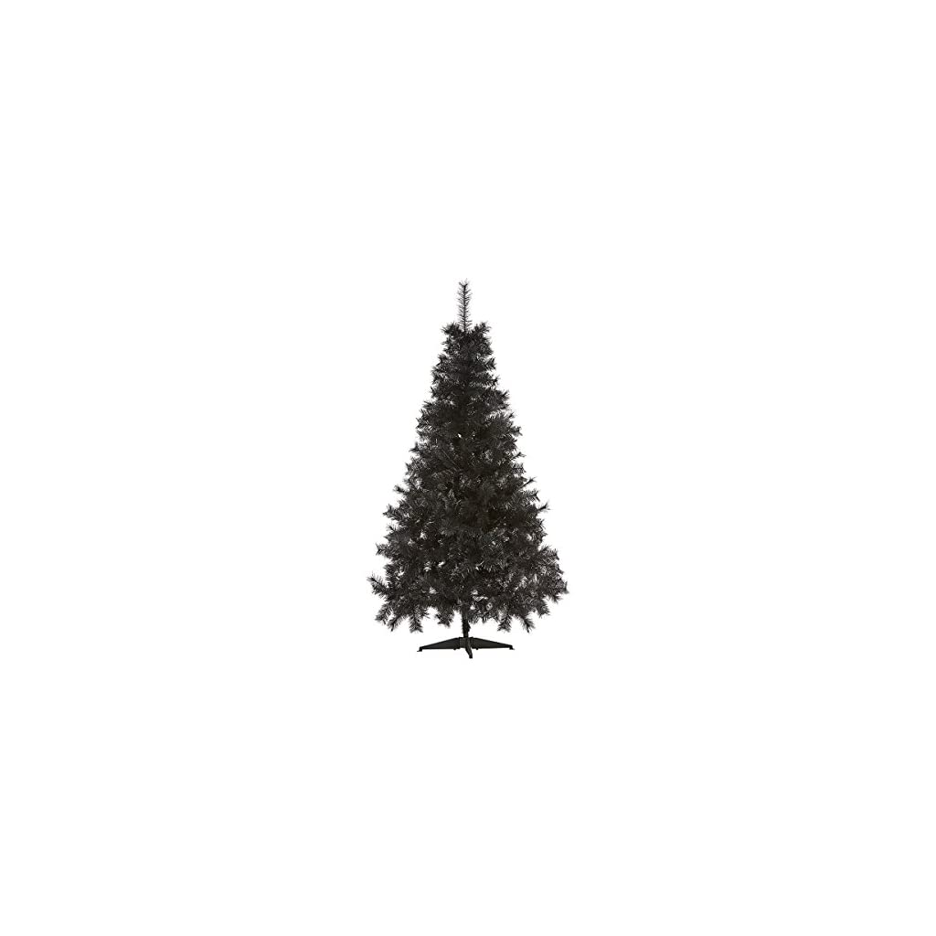 7ft-Black-Christmas-Tree-Imperial-Tips-Artificial-Tree-with-Metal-Stand