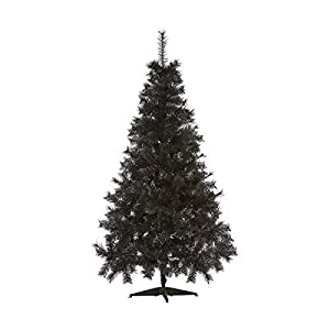 7ft - Black Christmas Tree Imperial Tips Artificial Tree with Metal Stand 2