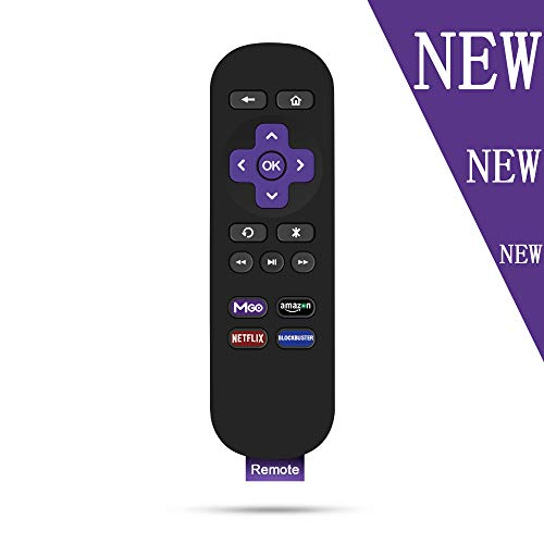 Gvirtue Replacement Remote Control for Roku Models: Roku 1, Roku 2(HD, XD, XS), Roku 3, Roku LT, HD, XD, XDS, Roku N1, Roku Express, Roku Express+ (Remote)