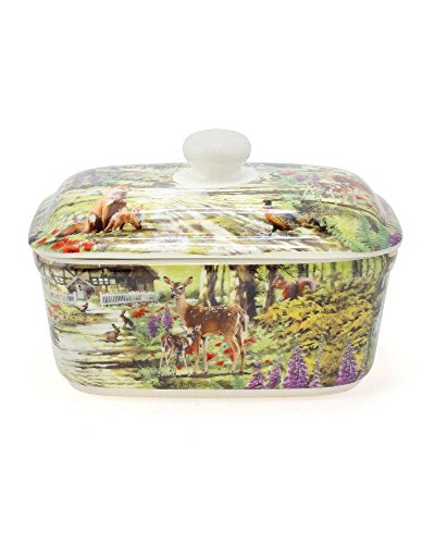 Lesser & Pavey Leonardo Collection All Creatures Great and Small Butter Dish