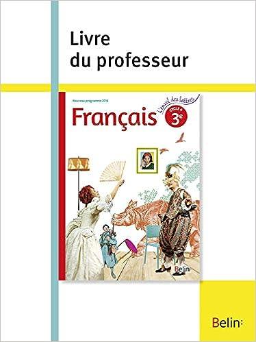 Francais 3e Livre Du Professeur Amazon Fr Florence