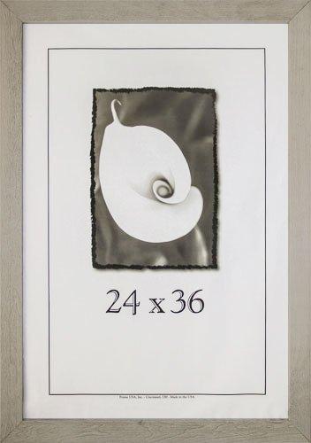 24×36 Farmhouse Barnwood Picture Frame w/Plexi-Glass (White) For Sale