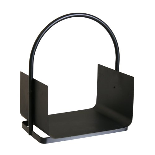 Kamino-Flam Holzlege 337215, Kohlekorb für den Innen- und Außenbereich, schwarzer Aufbewahrungskorb aus Eisen, Allzweckkorb mit hochwertiger Beschichtung, robuste Konstruktion für Kaminholz, macht auch als Zeitungskorb oder Ablage für Papiermüll eine gute Figur, ca. 40,5 x 30 x 47 cm (BxTxH)