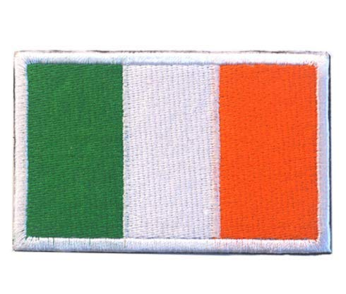 Ireland Flag Military Patch Fabric Embroidered Badges Patch Tactical Stickers for Clothes with Hook & Loop]()