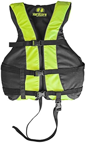 (Hardcore Water Sports High Visibility Life Jacket Vest with Additional Leg Strap | USCG Approved PFD)
