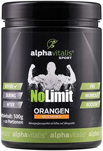HARDCORE XXL PRE WORKOUT BOOSTER No Limit mit AAKG L-Arginin, L-Citrullin, Creatine, beta Alanin, Taurin, Koffein uvm. 500g