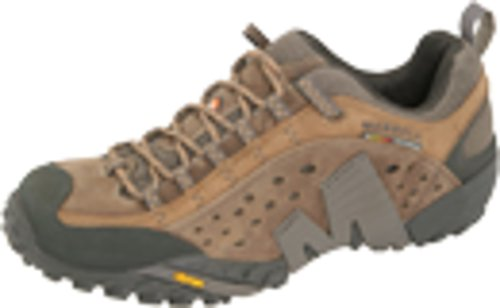 Merrell Dress Shoes - Merrell Men's Intercept Moth Brown Leather Sneaker 11 M