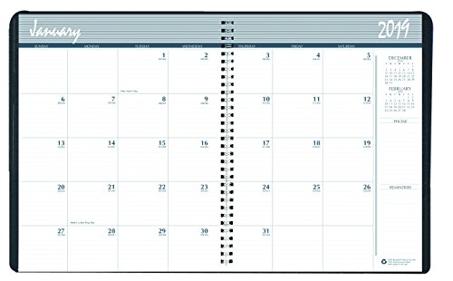 (House of Doolittle 2019 Calendar Planner, Monthly, December 2018-January 2020, Wire-Bound with Graphite Cover (HOD26213-19))