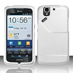 White Hard Case Snap On Rubberized Cover For Pantech Flex P8010 / P9090 (AT&T)
