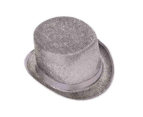 Forum Novelties Men's Adult Glitter Mesh Costume Hat, Silver, One Size -