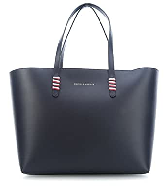 Tommy Hilfiger Tote Bag for Women, Leather - Navy (AW0AW05531-413)