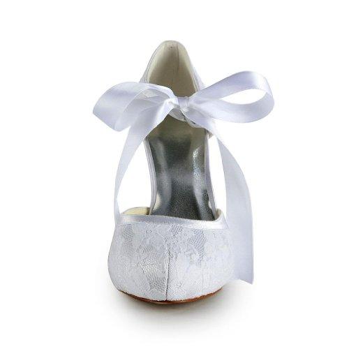 Jia Jia Wedding 37030A Hochzeitsschuhe Brautschuhe Damen Pumps Weiß