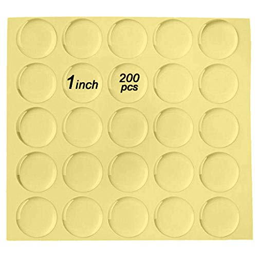 Pop Resin 1 inch Round Clear Epoxy Stickers 200 Pcs for Bottle Cap Pendants or DIY Crafts Adhesive Seal - Caps Bottle Resin