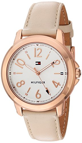 Tommy Hilfiger Women's 'Sport' Quartz Gold and Leather Casual Watch, Color Beige (Model: 1781755)
