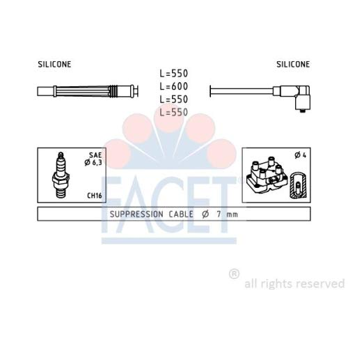 Facet 4.7246 Ignition Leads Kit: