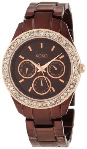 XOXO Women's XO5506 Rhinestones Accent Brown Bracelet Analog Watch