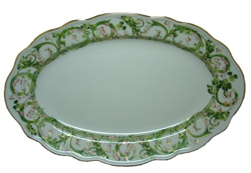 (Versace by Rosenthal Flower Fantasy 15-Inch Oval Serving Platter)