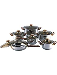 18/10 STAINLESS STEEL Gourmet Chef 12-piece Covered Cookware Set Pots and Pans:New by WW shop