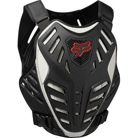 FOX RACING 2018 TITAN RACE SUBFRAME CE Black/Silver SMALL/MEDIUM MX OFFROAD ADULT MEN'S PROTECTIVE GEAR ()