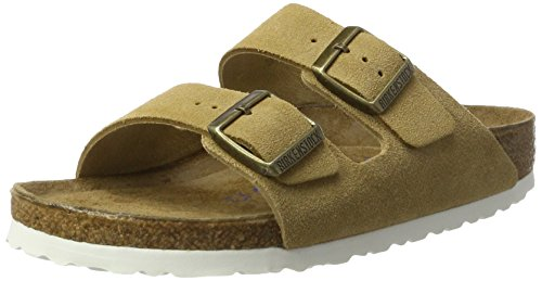 Birkenstock Arizona Leder Softfootbed - Mules Unisex adulto Marrón (Sand)