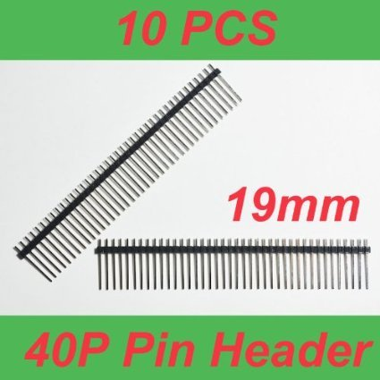 Lighting Accessories 10pcs Single Row Male 1*40 40pin 2.54mm 1x40 19mm Height Long Breakable Pin Header