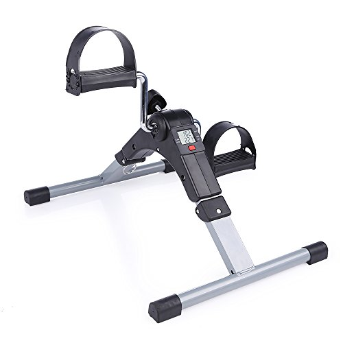 Folding Pedal Exerciser, AGM Medical Digital Under Desk Bike Foot Cycle Arm & Leg Peddler Machine by AGM (Image #7)
