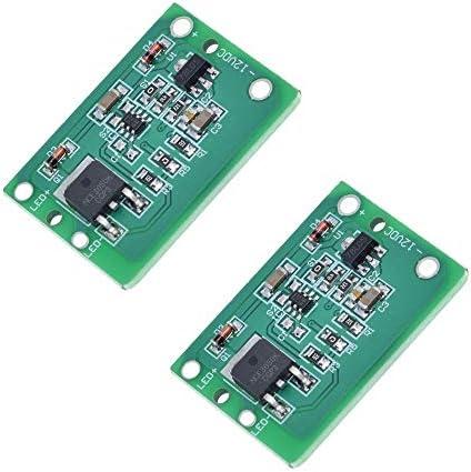 DIY Electronic kit 2PCS 12V Capacitive Touch-Schalter-Sensor-Modul Push Button Berühren Key Module Jog Latch mit Relais DC 6-20V 3A