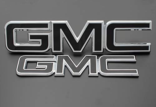 2017 GMC Sierra 1500 Gloss Black billet aluminum red letter replacements