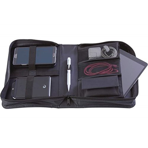Solid Genuine Cowhide Leather Travel Electronics Case - LUTEC